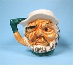 Miniature Ceramic Toby Head Type Salt Shaker