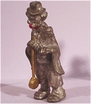 Click here to enlarge image and see more about item p00306: Miniature Pewter Clown