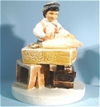 Click here to enlarge image and see more about item p00349: Sebastian Miniature 1980 Sailing Days Boy
