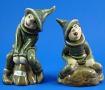 1940s/1950s California Pottery Pixie S/P Shakers