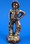 Click to view larger image of 1930s/1940s Pot Metal Will Rogers Cowboy Figurine (Image1)
