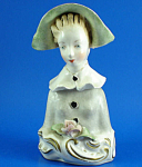 Click here to enlarge image and see more about item p00437: Corday Pottery Lady Bust