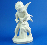 Click here to enlarge image and see more about item p00441: Vintage German Porcelain Cherub Bundling Wheat