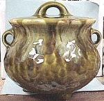Click here to enlarge image and see more about item pt00045: McCoy Kettle, Green Onyx Glaze