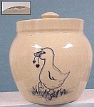 Click here to enlarge image and see more about item pt00128: Stoneware Cookie Jar