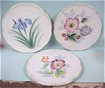 Three Handpainted Porcelain Coasters