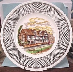 Click to view larger image of Myott Shakespeare Land Souvenir Plate (Image1)