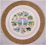 Click here to enlarge image and see more about item pt00329: Yellowstone Souvenir Plate