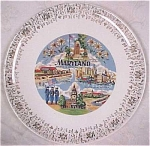 Click here to enlarge image and see more about item pt00331: Maryland Souvenir Plate