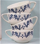 Click here to enlarge image and see more about item pt00336: Four Rooster Cups