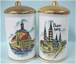 Click here to enlarge image and see more about item pt00361: Two Bamberg Pepper Shakers