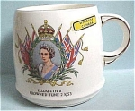 Click to view larger image of 1953 Queen Elizabeth II Coronation Mug (Image1)