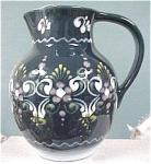 Click to view larger image of Handpainted Slip Glaze Gmundner Austria Jug (Image1)