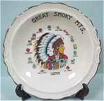 Click here to enlarge image and see more about item pt00387: Souvenir Great Smokey Mountains Indian Mini Dish