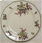 Click here to enlarge image and see more about item pt00393: Royal Doulton Old Leeds Sprays Small Plate