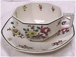 Click here to enlarge image and see more about item pt00403: Royal Doulton Old Leeds Sprays Cup and Saucer