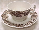 Click here to enlarge image and see more about item pt00434: Booths Brown Vine & Wheat Cup & Saucer