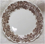 Click here to enlarge image and see more about item pt00438: Booths Brown Vine & Wheat Plate