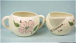 Click here to enlarge image and see more about item pt00472: 1950s Miniature Cream and Sugar Set