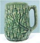 Click here to enlarge image and see more about item pt00483: 1930s Pottery Green Mug