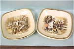 Arther Wood of England Dickens Miniature Plates