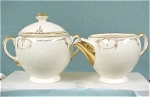 Click here to enlarge image and see more about item pt00489: Salem China Symphony Cream & Sugar Set