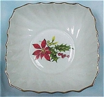 Click here to enlarge image and see more about item pt00504: Royal Adderley Ridgway Poinsettia Dish