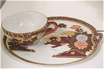 Click here to enlarge image and see more about item pt00529: Lithopane Cup and Snack Plate