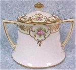 Click here to enlarge image and see more about item pt00531: Handpainted Nippon Noritake Sugar Bowl