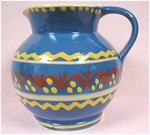 Click here to enlarge image and see more about item pt00536: Small German Slip Painted Pitcher