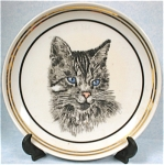Click here to enlarge image and see more about item pt00539: Miniature Cat Plate