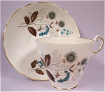Click here to enlarge image and see more about item pt00585: Regency Bone China Teacup and Saucer
