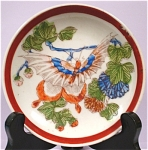 Click here to enlarge image and see more about item pt00602: 1910s/1920s Small Nippon Butterfly Plate