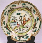 Click here to enlarge image and see more about item pt00604: Nice 1930s/1940s Oriental Plate