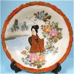 Click here to enlarge image and see more about item pt00620: c1900 Oriental Handpainted Small Plate