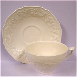 Click to view larger image of Crown Ducal Florentine Pattern Cup and Saucer (Image1)