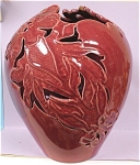 Click here to enlarge image and see more about item pt00649: Pierced Pottery Vase