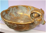 Click to view larger image of Stangl Antique Gold Finish Apple Dish (Image1)