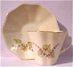 Click here to enlarge image and see more about item pt00672: Claire Lerner Miniature Cup and Saucer
