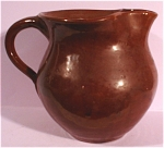Click here to enlarge image and see more about item pt00676: Brown Glaze Pottery Pitcher