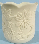 Click to view larger image of 1989 Lefton Bisque Christmas Candle Cup (Image1)
