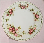 Click to view larger image of Royal Albert Flower of the Month June Roses Plate (Image1)