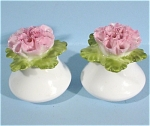 Click here to enlarge image and see more about item pt00690: Denton Bone China Miniature Flower S/P Set
