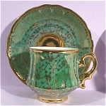 Click here to enlarge image and see more about item pt00696: Miniature Bone China Cup and Saucer