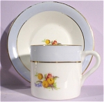 Click here to enlarge image and see more about item pt00697: Rosina Bone China Miniature Cup and Saucer