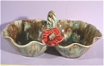 Click to view larger image of Pottery Double Bowl Basket (Image1)