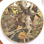 Click here to enlarge image and see more about item pt00715: 1974 Ridgewood Fine China Plate - The Hunter