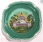 Harker Pottery Plate Washington DC Souvenir