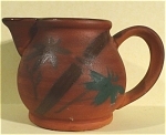Click here to enlarge image and see more about item pt00737: 1950s/1960s Japan Redware Pitcher