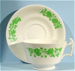 Click here to enlarge image and see more about item pt00741: Copeland Spode Shamrock Cup and Saucer